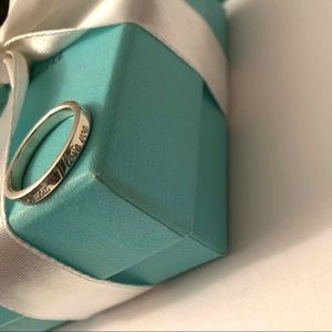 "Authentic Tiffany & Co. ""I Love You"" ring. Size 7"